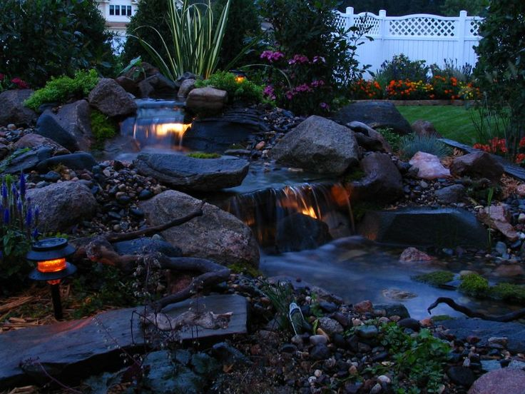 105 best koi images on pinterest water features koi for Koi pond lights