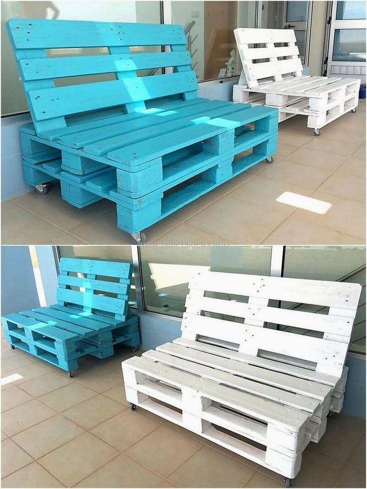 45 Creative DIY Pallet Outdoor Furniture Ideas
