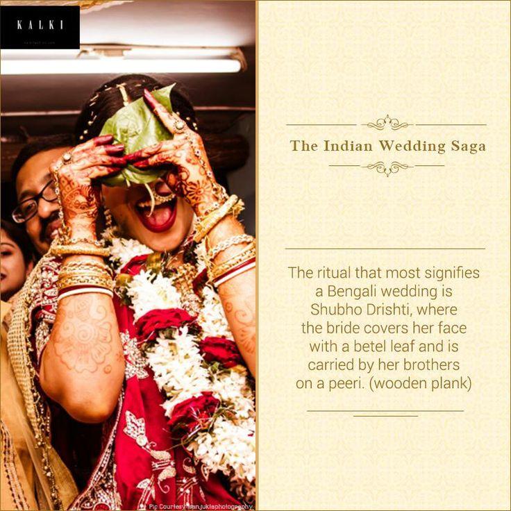 #DidYouKnow The 'auspicious sight' or Shubho Drishti is a sweet Bengali wedding ritual.
