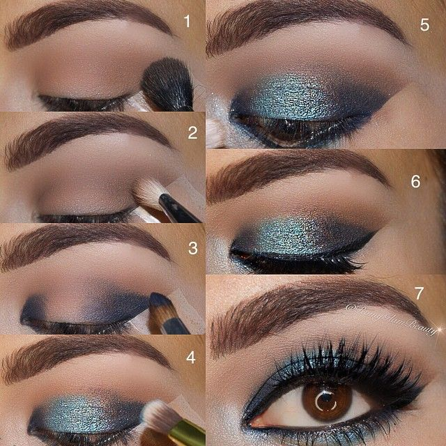 Deep Blue Sea Glam ..Pictorial ... ➡️ Used Urban Decay Vice 3 palette 1⃣ Downfall to crease for transition shade 2⃣ Reign to deepen the crease & Truth to the brow bone 3⃣ Heroine to inner & outer corner leave the middle blank 4⃣ Freeze to the center pack this color on 5⃣ Bobby Dazzle to inner corner for a highlight 6⃣ Blend the crease well & apply false lashes these are @kokolashes 'Bella' lashes & NYC liquid liner for winged liner 7⃣ put a bit of ...