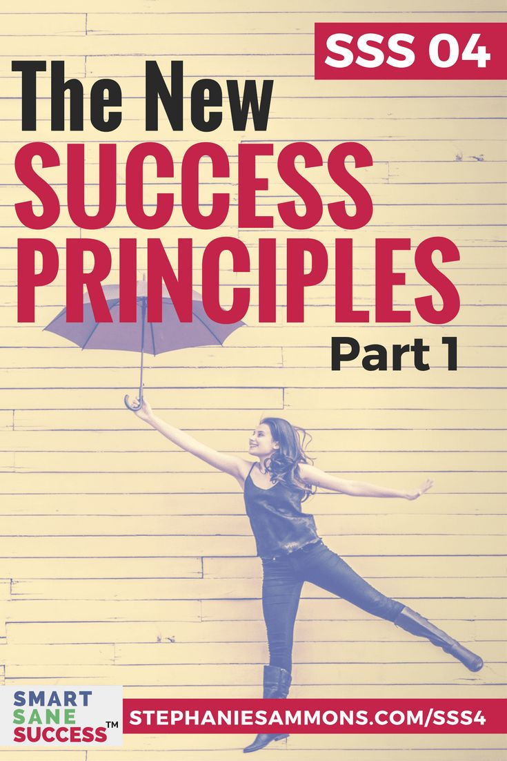 What is success anyway? What does it mean to be successful? Listen to this episode to hear my thoughts on these New Success Principles. via @stephaniesammons