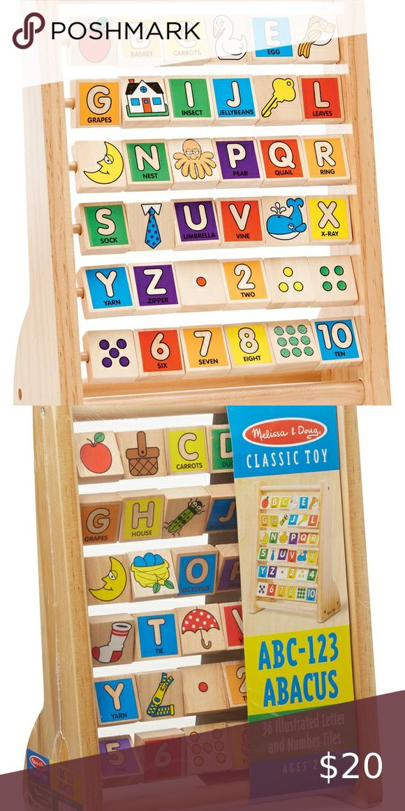 Melissa and Doug Kids' Wooden Alphabet Abacus in 2020 ...