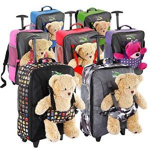 Cabin Max Bear Childrens Luggage Carry On Trolley Suitcase Wheeled Cabin Bag  | eBay
