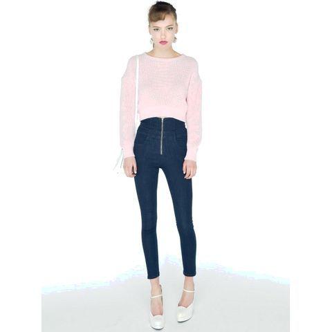 ピンクのトップスを合わせることで一気にガーリーに♡ ハイウエストスカート・パンツ スタイル ファッション コーデ♪