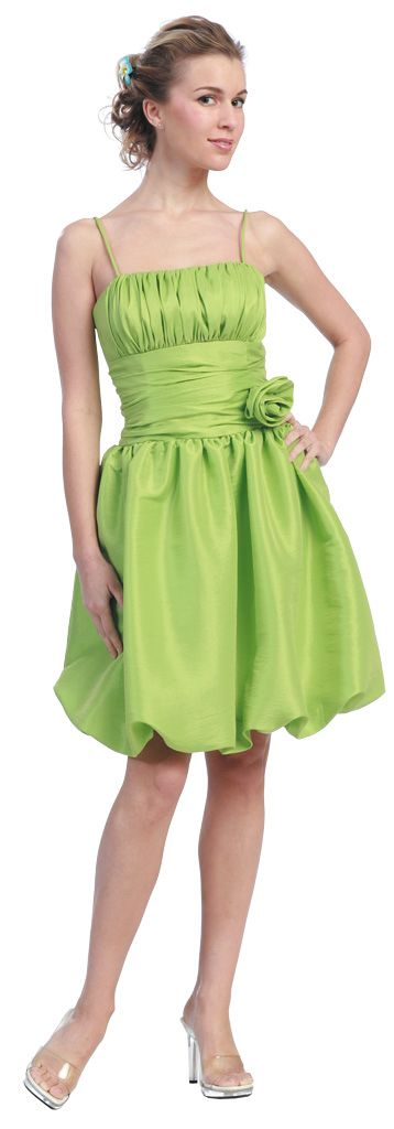 Cheap Lime Green Bubble Dress Lime Green Cocktail Dress Prom Dress $88.99