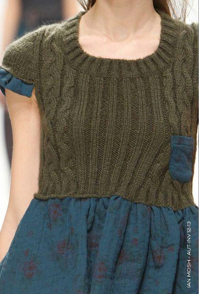 récup pull pour faire une robe