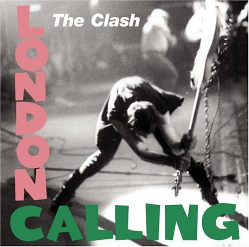 "The pop colors and lettering over the violent stance make ""London Calling"" representative of the surface calm floating above the unrest of the times."