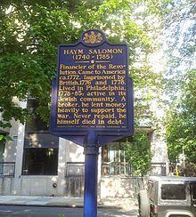 Haym Salomon - Wikipedia, the free encyclopedia