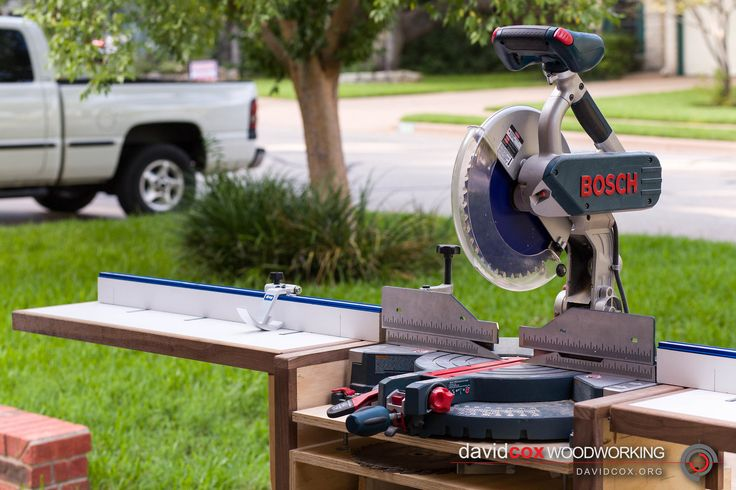 Front Right View of Rolling Chop Saw Stand for Bosch 12