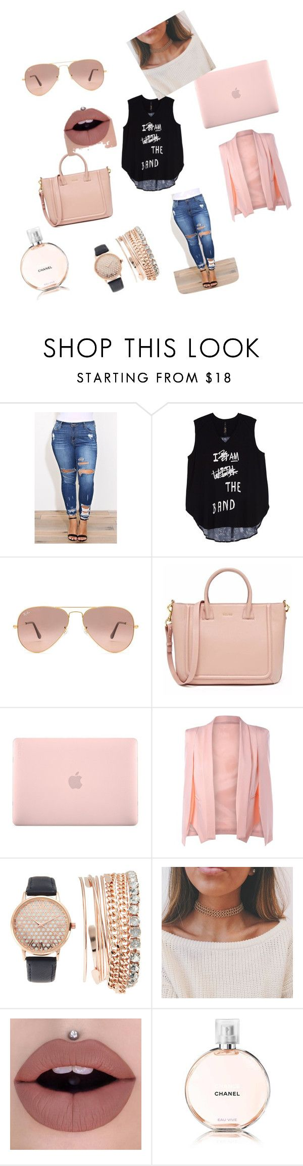 """My Fav"" by mrsally ❤ liked on Polyvore featuring Melissa McCarthy Seven7, Ray-Ban, Incase, Jessica Carlyle, Chanel and plus size clothing"
