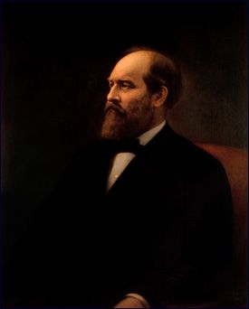 Official White House Portrait of James Abram Garfield - 20th President of the United States