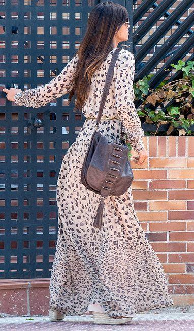 Hoss Intropia Leopard Printed Maxi Chiffon Dress - Celebrities who