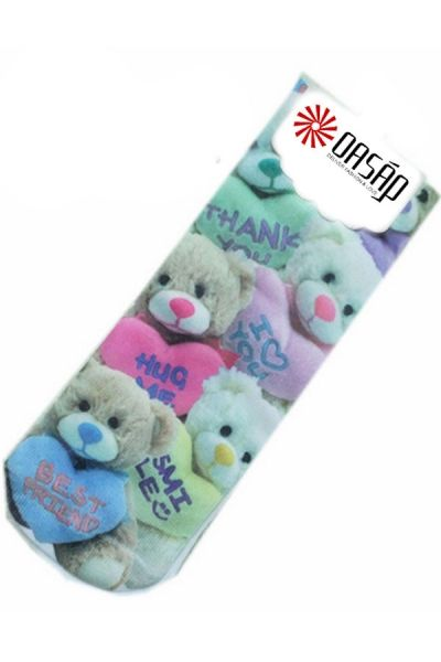 Massive Teddy Graphic Crew Socks