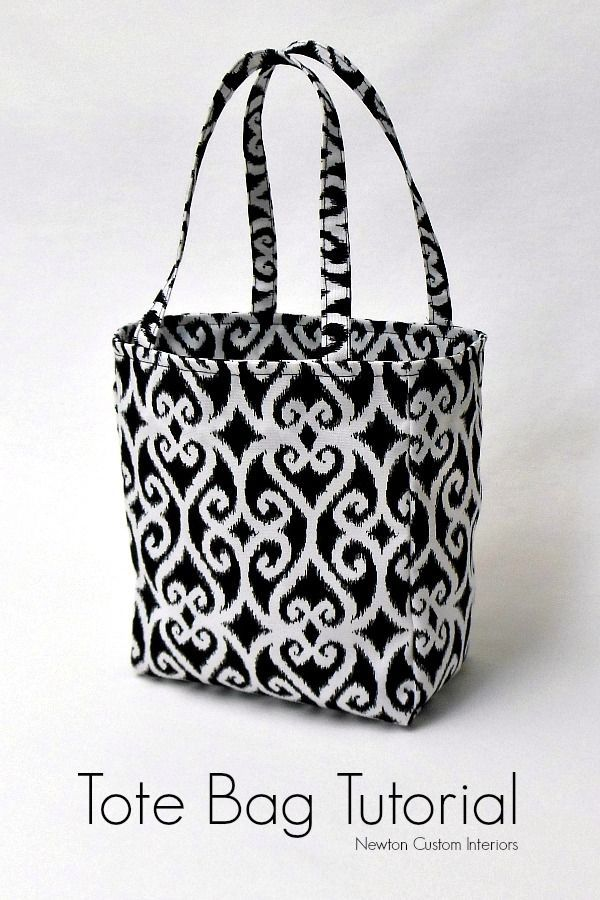 Tote Bag Tutorial from NewtonCustomInteriors.com. Learn how to make this cute tote bag with this detailed sewing tutorial.