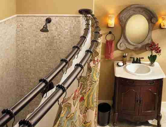 Double Curved Shower Curtain Rod Oil Rubbed Bronze