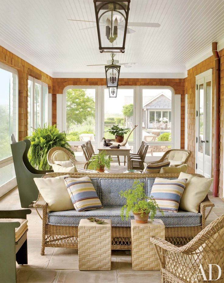 Lovely Sunroom Furniture Layout