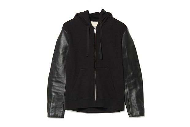 UNDERCOVER Leather-Sleeved Hoodie, 27-10-2012, Undercover, Tokyo