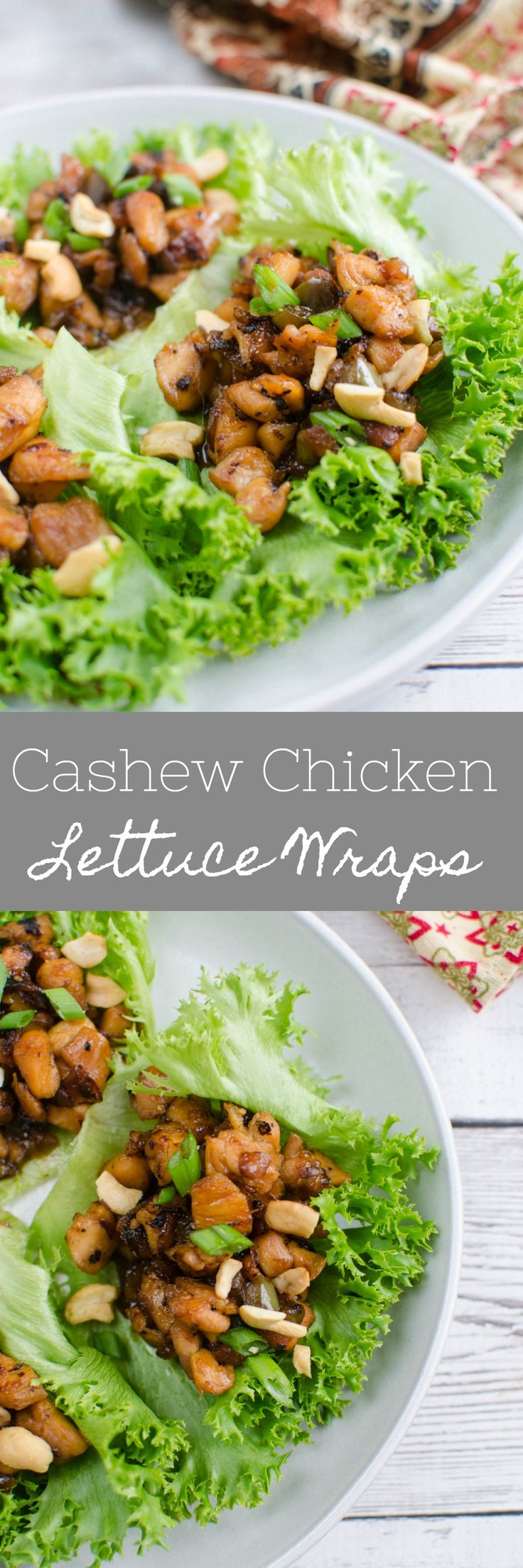 Healthy eating doesn't have to be boring.  Cashew Chicken Lettuce Wraps!: http://fakeginger.com/cashew-chicken-lettuce-wraps/