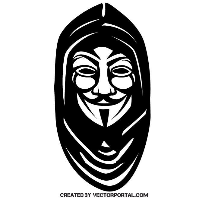Anonymous mask with hoodie vector illustration