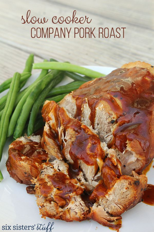 Slow Cooker Company Pork Roast on SixSistersStuff.com - this stuff tastes amazing!