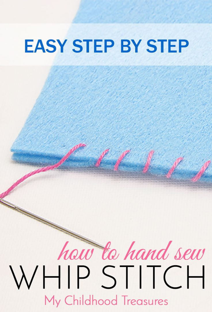 How to sew whip stitch to applique felt