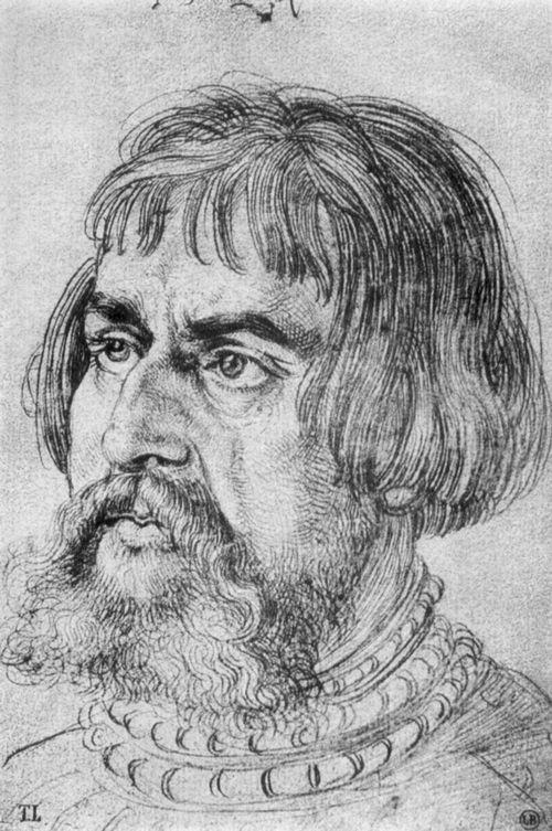 Dürer, Albrecht: Porträt des Lukas Cranach der Ältere (Portrait of Lucas Cranach the Elder), 1524