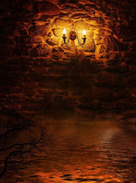 Тонкий ткани ткани печатные фотографии фоном кирпичи стены при свечах фон XT-2361