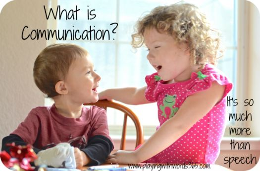 What is Communication? How is it different from speech? Or from Language? Very important information for any parent.