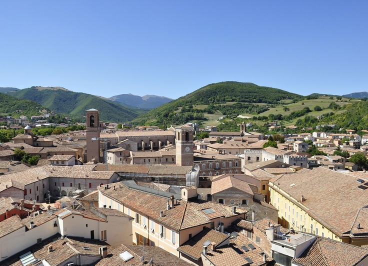 A wonderful view of the historical town center of Fabriano (Marche - Italy)  photo by Giorgio Pellegrini