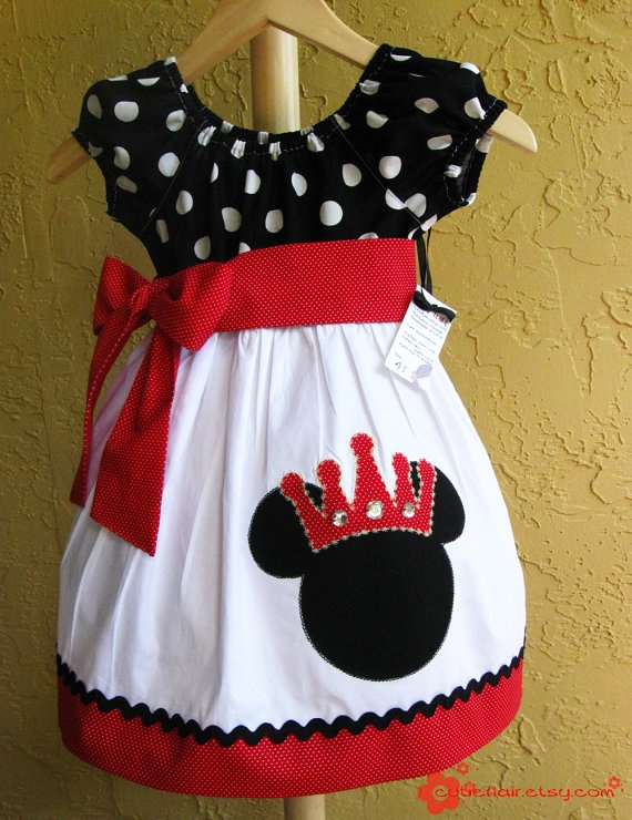 Yoked Peasant miss Mouse dress