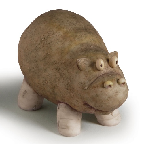 Home Grown Veggie Animal Figurine - Potato Hippo will probably make this for my other little sister!!