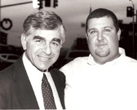 Presidential candidate Michael Dukakis and running mate Scott Plath