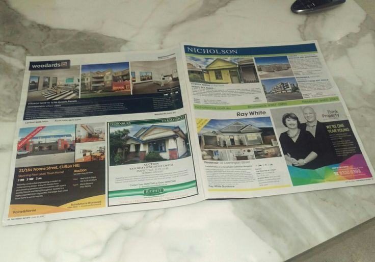 Think property co campaign comes alive in print! #digitalwhitespace