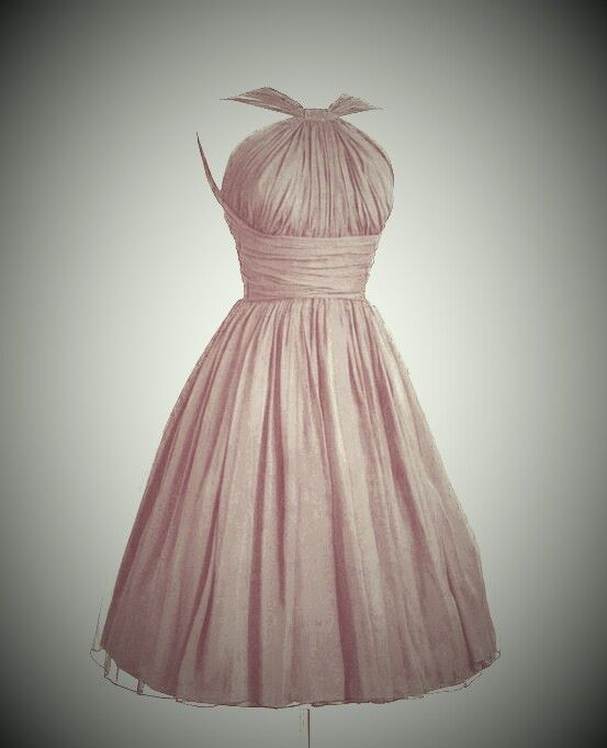 My bridesmaids Pink vintage bridesmaid dress. EH