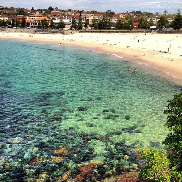 Coogee Beach #Sydney #Australia:   Color inspiration:  sand+turquoise+dark green+blue