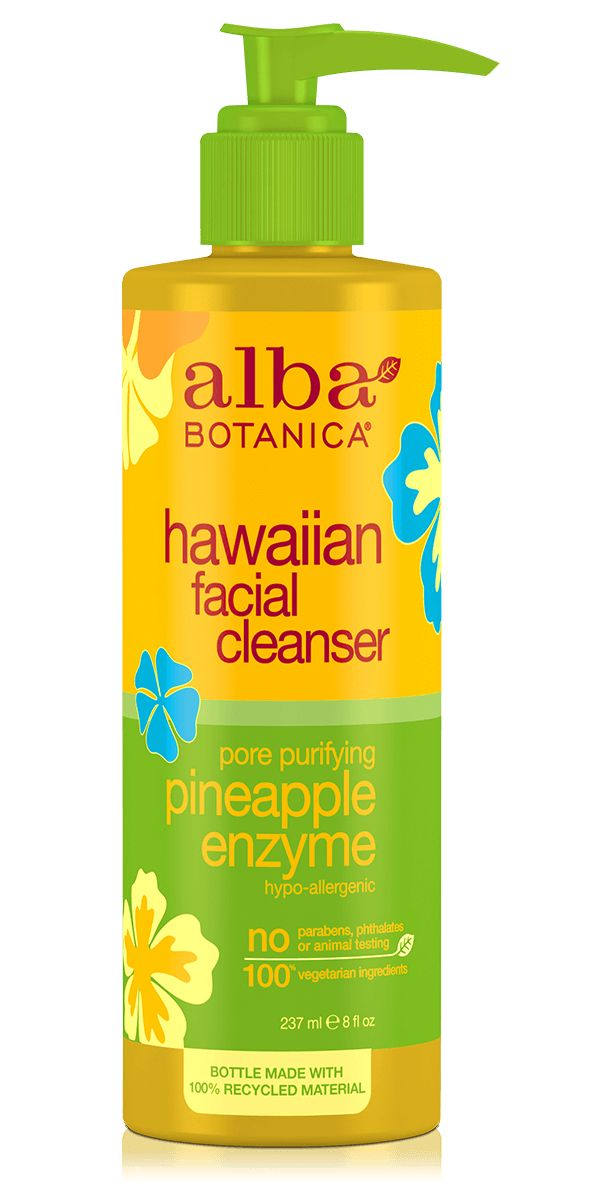 Alba Botanica Hawaiian Facial Cleanser: really great cleanser for normal-to-oily skin with large pores! [natural skincare, best face wash, vegan, cruelty free]