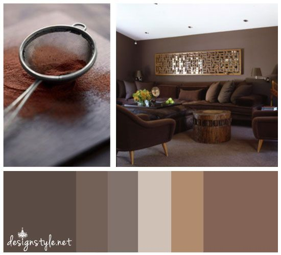 Chocolate Inspired Color Palettes, brown and taupe tones