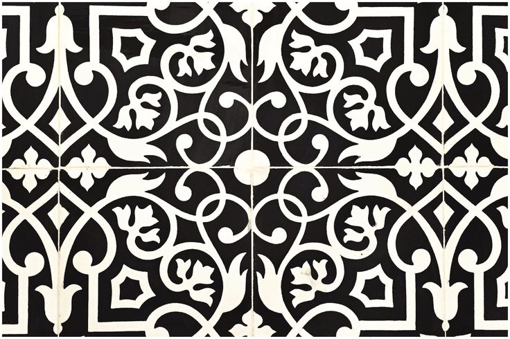classic black and white tile floor - Google Search