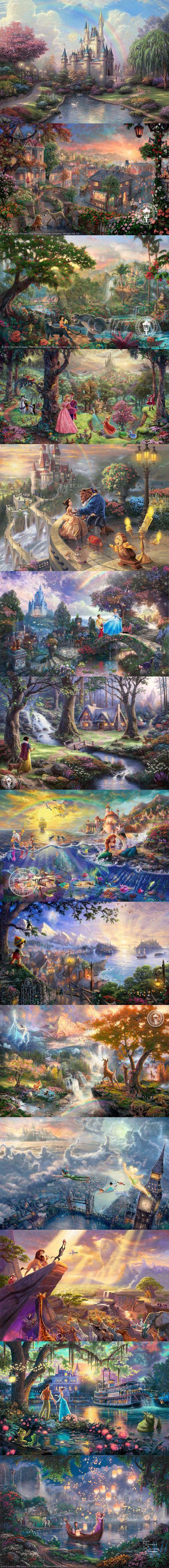 """Thomas Kinkade """"Disney Dreams"""" collection: Thomas Kinkade """"Disney Dreams"""" collection"""