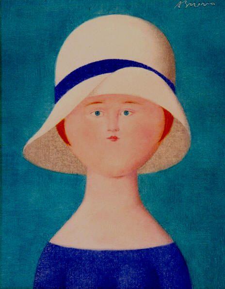 """Antonio Bueno - """"Volto 1920"""", 1983 - olio su faesite - Collezione Isabella Bueno, Firenze"""