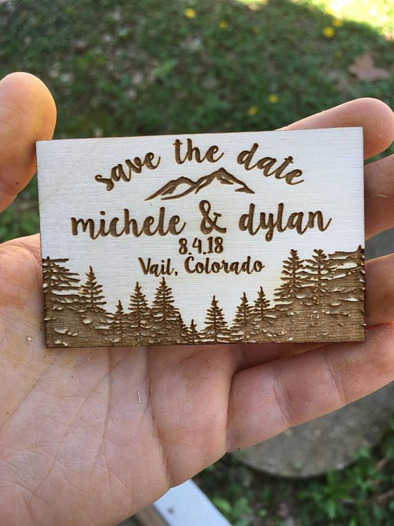 Tree with Hearts Save The Date Magnet * WHAT YOU GET * Save the Date Magnets made from 1/8 inch natural wood. * MEASUREMENTS * 3(Long) by 2 (Tall) *Please note this is in the shape of an Square* Please write BOTH NAMES and the DATE of your event in the notes section at check out. Go check out my shop for more unique wedding decor