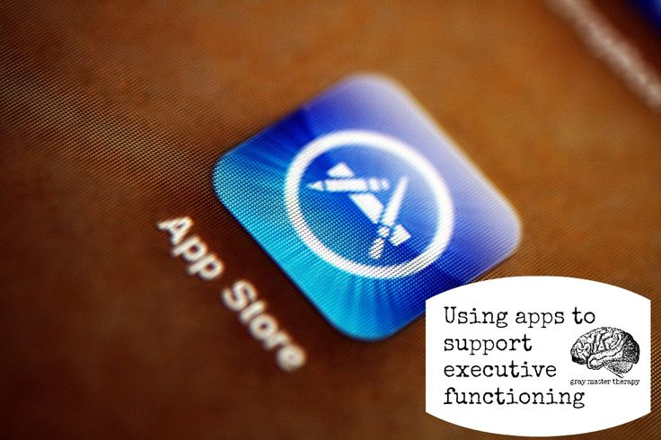 Using apps to support executive functioning