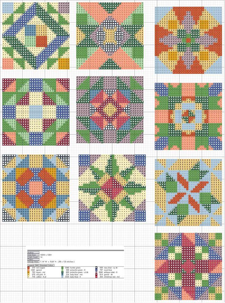 Cross-stitch Quilt squares, part 2