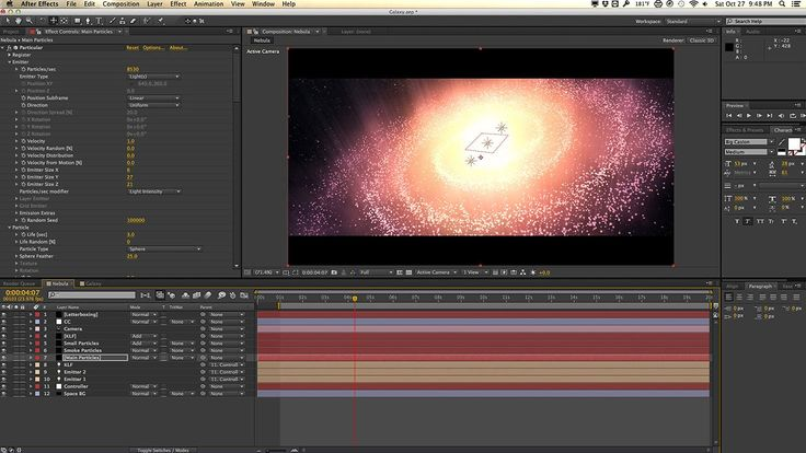 Galaxy Nebula with Trapcode Particular Tutorial