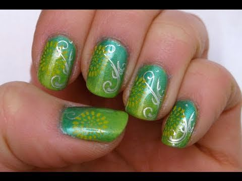 59 best video tutorials nail art design ideas images on sunflower in a green patch bundle monster nail stamping tutorial nails prinsesfo Gallery