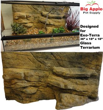 Lovely Three Dimensional Realistic Rock Backgrounds Designed for Exo Terra Terrariums