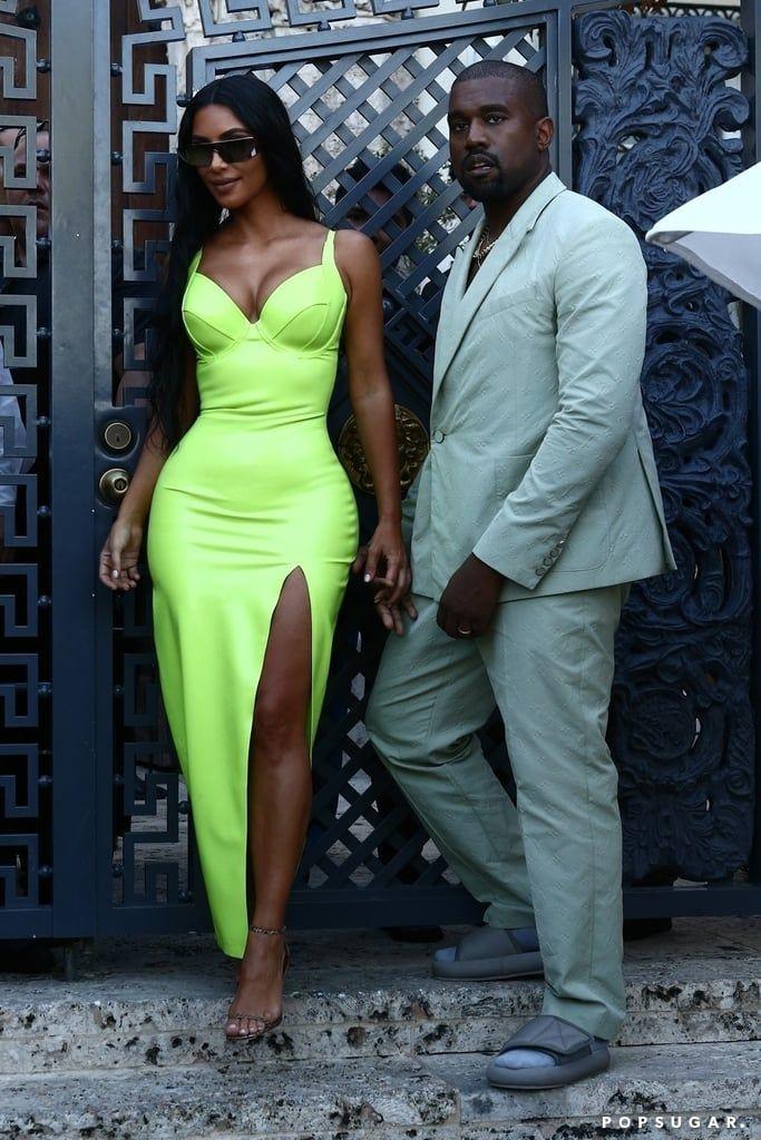 Sleeveless Neon Top Kim Kardashian Kanye West Kim Kardashian And Kanye Kanye West Outfits