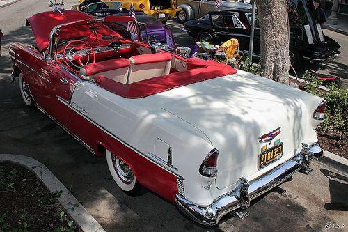 1955 Chevrolet Bel Air cnv - red white - rvl2 | Rex Gray | Flickr