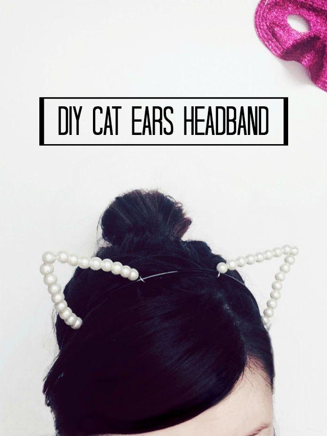 le idee della Vale: DIY Cat Ears Headband - il cerchietto con le orecchie di gatto :3
