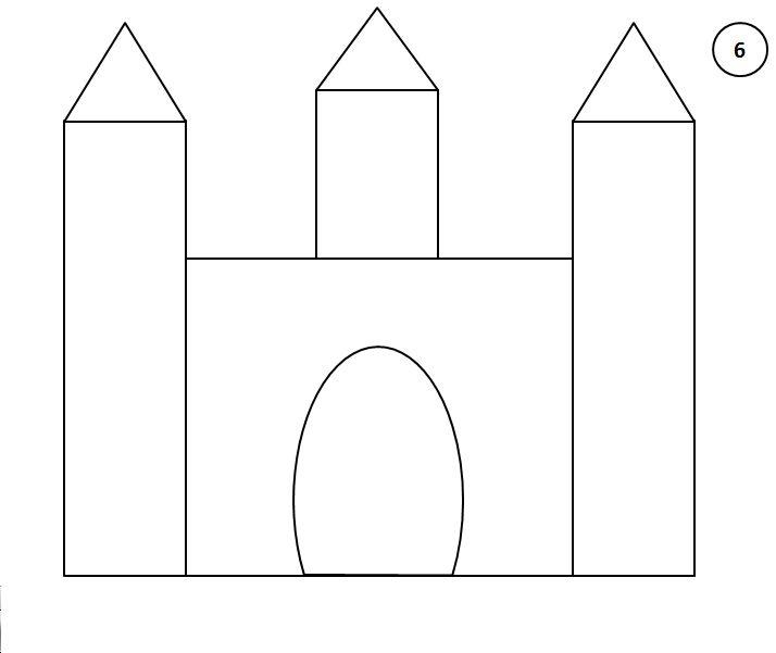 Stappenplan kasteel tekenen 6